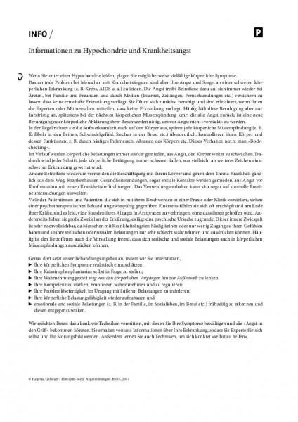 Informationen zu Hypochondrie und Krankheitsangst