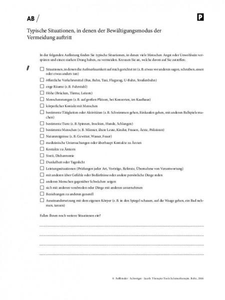 Schematherapie: Typische Situationen, in denen der Bewältigungsmodus der Vermeidung auftritt