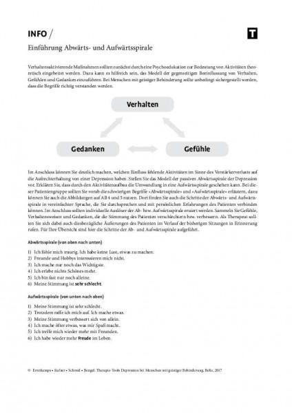 Depression und geistige Behinderung: Einführung Abwärts- und Aufwärtsspirale