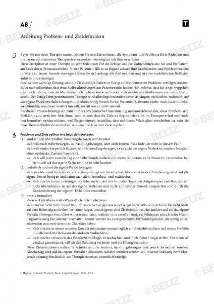 Angststörungen: Anleitung Problem- und Zieldefinition