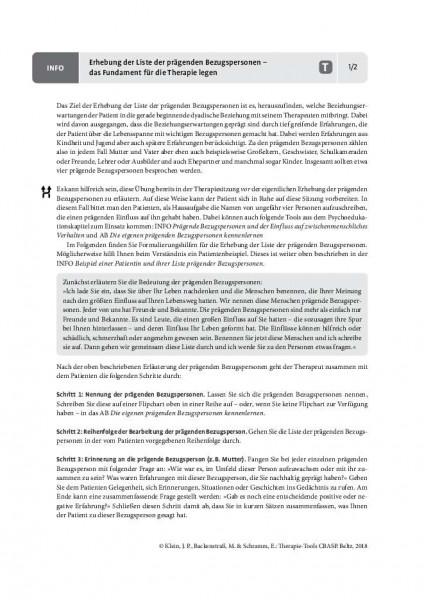 CBASP: Erhebung der Liste der prägenden Bezugspersonen – das Fundament für die Therapie legen
