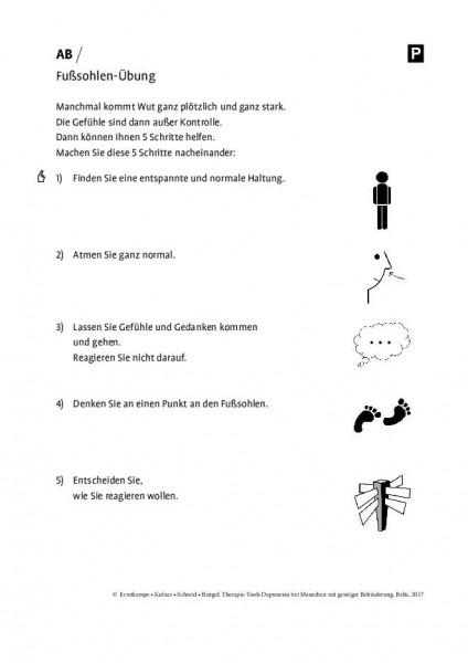 Depression und geistige Behinderung: Fußsohlen-Übung