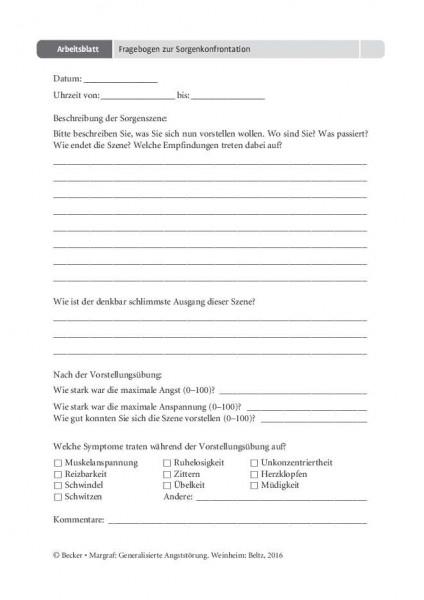 Generalisierte Angststörung: Fragebogen zur Sorgenkonfrontation, Grübeln