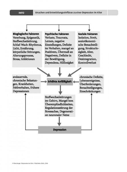 Ursachen und Entwicklungseinflüsse zu einer Depression im Alter