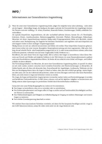 Informationen zur Generalisierten Angststörung