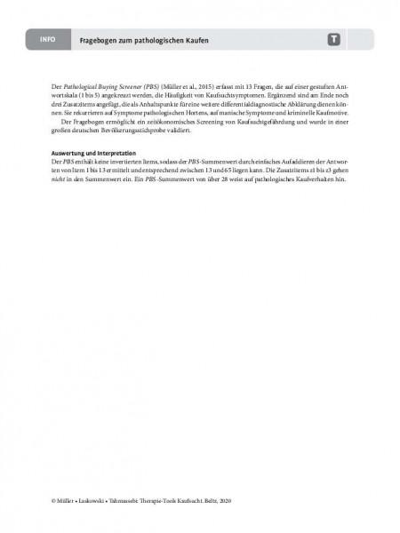 Kaufsucht: Fragebogen zum pathologischen Kaufen