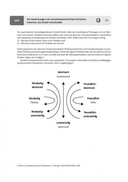CBASP: Die Auswirkungen von zwischenmenschlichem Verhalten erkennen – das Kiesler-Kreismodell