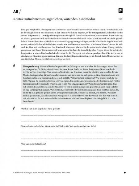 Schematherapie: Kontaktaufnahme zum ärgerlichen, wütenden Kindmodus