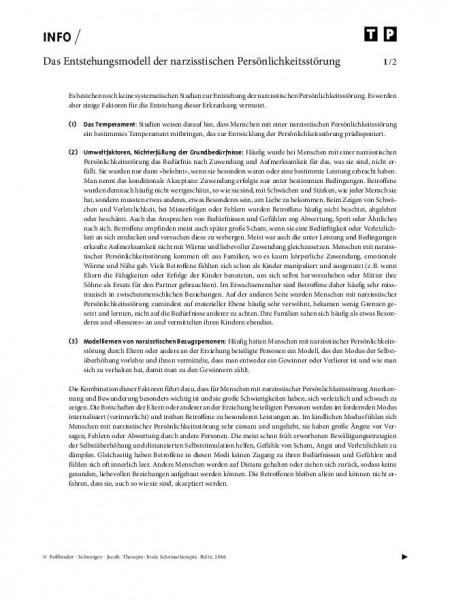 Schematherapie: Das Entstehungsmodell der narzisstischen Persönlichkeitsstörung