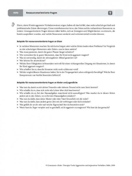 Aggression: Ressourcenorientierte Fragen