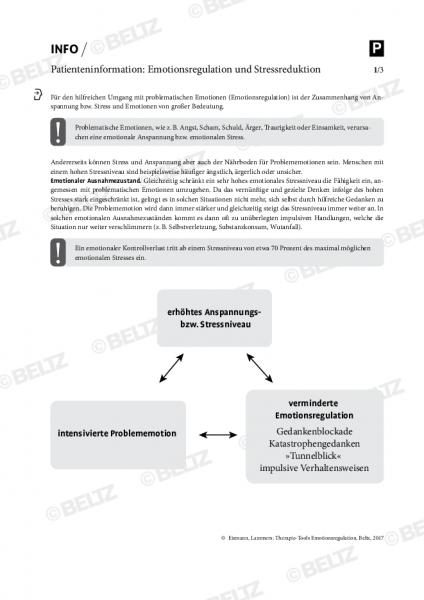 Patienteninformation zu Emotionsregulation und Stressreduktion