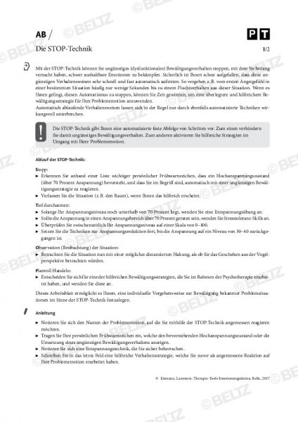 Emotionsregulation: Die STOP-Technik