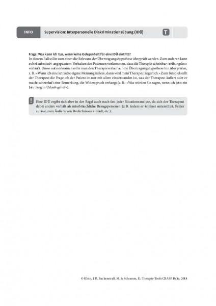 CBASP: Supervision: Interpersonelle Diskriminationsübung