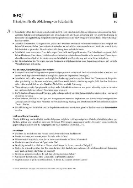 Depression: Prinzipien für die Abklärung von Suizidalität