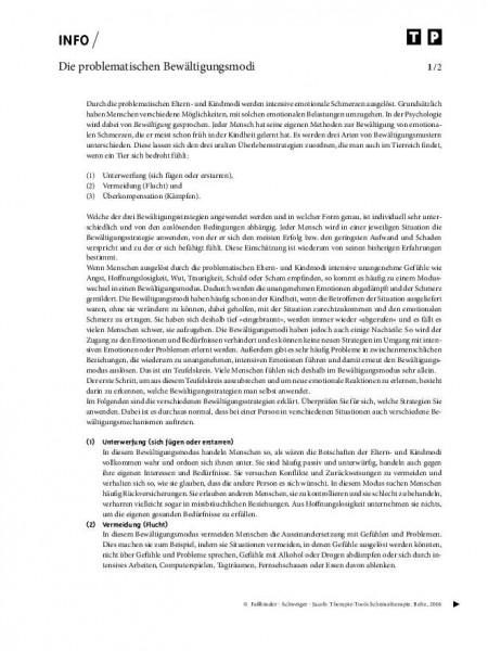 Schematherapie: Die problematischen Bewältigungsmodi