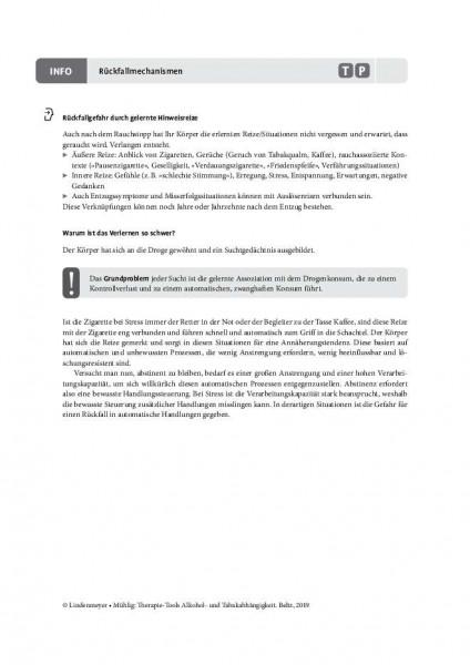 Tabakabhängigkeit: Rückfallmechanismen