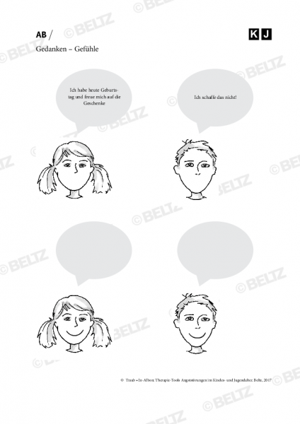 Angststörungen bei Kindern und Jugendlichen: Gedanken – Gefühle