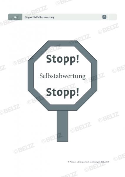 Essstörungen: Stoppschild Selbstabwertung