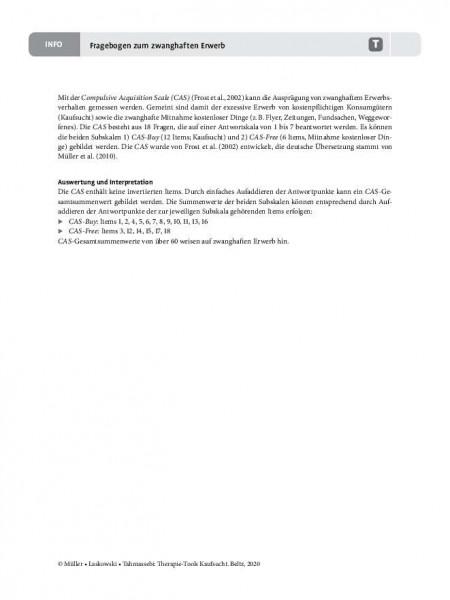 Kaufsucht: Fragebogen zum zwanghaften Erwerb
