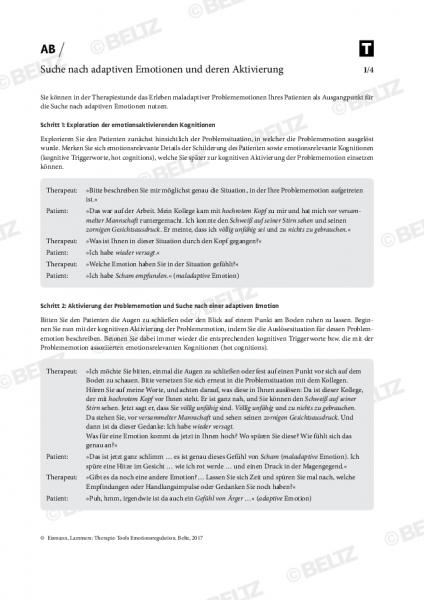 Emotionsregulation: Suche nach adaptiven Emotionen und deren Aktivierung