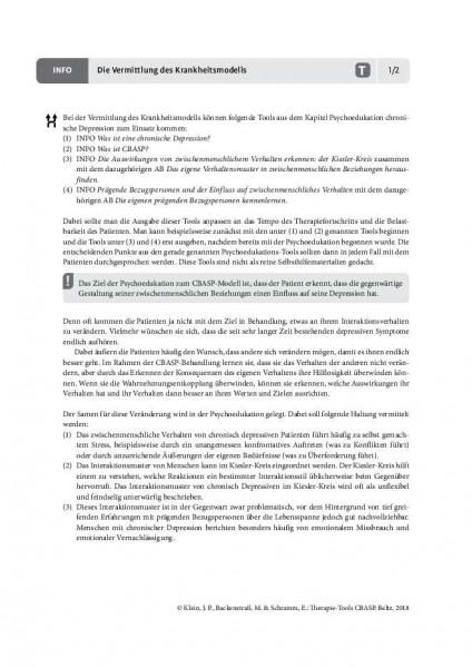 CBASP: Die Vermittlung des Krankheitsmodells