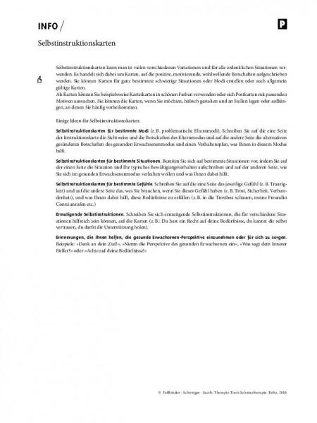 Schematherapie: Selbstinstruktionskarten