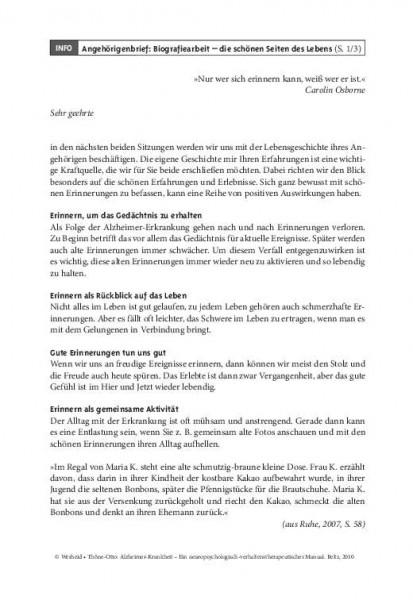 Kordial: Angehörigenbrief 5 – Biografiearbeit – die schonen Seiten des Lebens