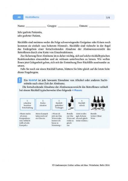 Alkoholabhängigkeit: Rückfallkette