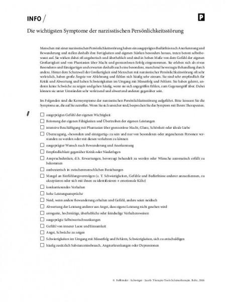Schematherapie: Die wichtigsten Symptome der narzisstischen Persönlichkeitsstörung