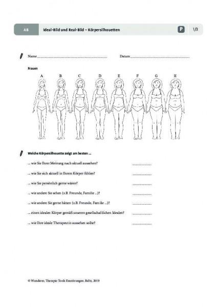 Essstörungen: Ideal-Bild und Real-Bild – Körpersilhouetten